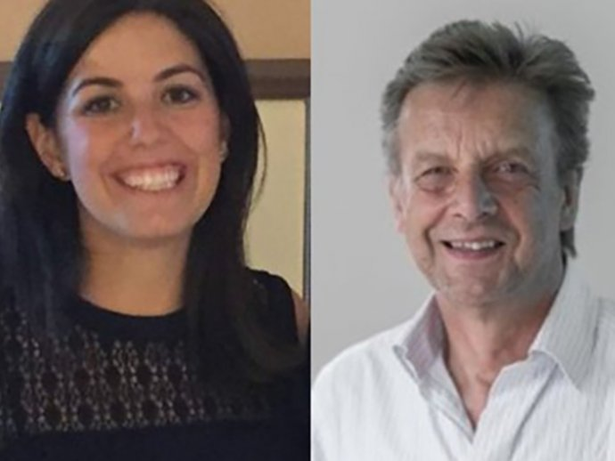 NNN Executive Committee members Leah Wohlgemuth (Sightsavers) and Prof KH Martin Kollmann (CBM)