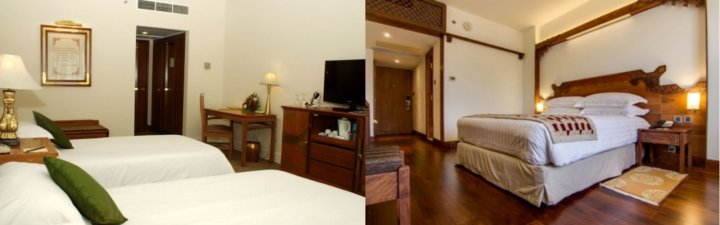 Pictures of the deluxe and heritage deluxe rooms