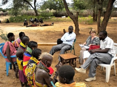 Community engagement and advocacy meeting with women in Turkana, Kenya; Credit: S. Meredith